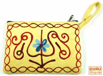 Besticktes Portemonnaie aus Kaschmir - 2
