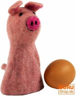 Filz Eierwärmer - Schweinchen