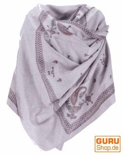 Indischer Schal / Stola, bedrucktes Ethno Tuch/Decke - Modell 3