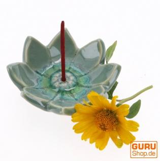 Keramik Räucherteller `Lotusblüte xl` - Modell 23