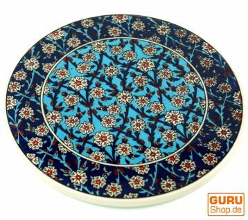 Orientalischer Keramikuntersetzer, runder Untersetzer mit Mandala Motiv - Muster 1