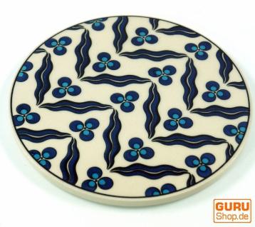 Orientalischer Keramikuntersetzer, runder Untersetzer mit Mandala Motiv - Muster 12
