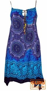 Boho Dashiki Midikleid, Trägerkleid, Strandkleid für starke Frauen - türkis/blau