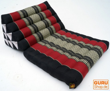 Thaikissen, Dreieckskissen, Kapok, Tagesbett mit 1 Auflage - schwarz/rot - Vorschau 2