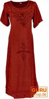 Besticktes Boho Sommerkleid, indisches Hippie Kleid - rot/Design 11