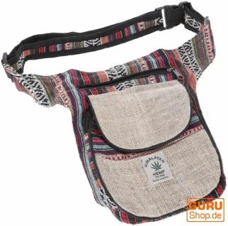 Hanf Ethno Sidebag, Nepal Gürteltasche - Modell 5