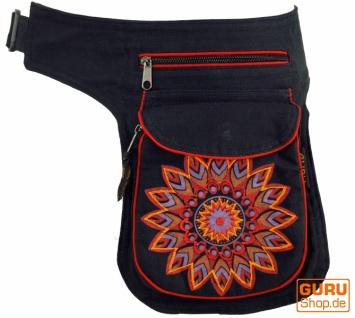 Stoff Sidebag & Gürteltasche Mandala, Goa Gürteltasche, Bauchtasche - rot