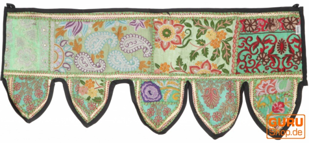 Orientalischer Wandbehang, indischer Toran, Wimpel Wandteppich, Wanddekoration, Tür Deko Einzelstück 90*30 cm - Design 16