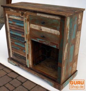 Kommode, Beistellschrank, Kommode, Fernsehschrank aus recyceltem Holz - Modell 2