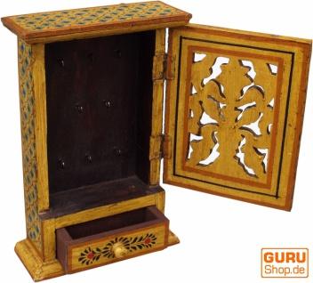 Schlüsselkasten, bemalte Schlüssel Ablage Box mit Tür - Muster 4 - Vorschau 2