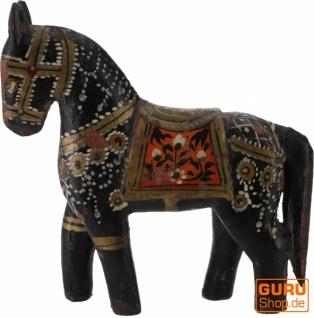 Deko Pferd, im Antik-look bemalt - schwarz