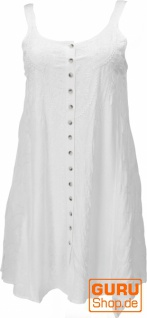 Besticktes indisches Boho Kleid, Hippie chic Minikleid - weiß/Design 25