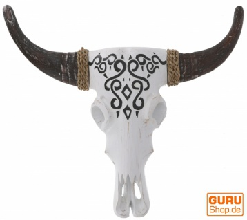 Große Maske Buffalo Skull Maske aus Balsaholz - Modell 2