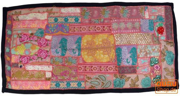 Patchwork Wandbehang, Wandteppich, Einzelstück 125*65 cm - Muster 12