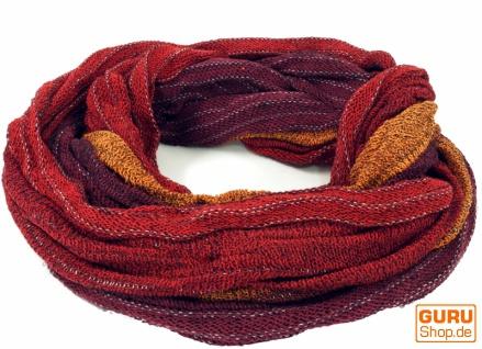 Weicher Loop Schal / Stola, Magic Loopschal, Weste - rot/orange
