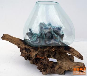 Wurzelholz Vase M5 - Glasdurchmesser bis 50 cm - Vorschau