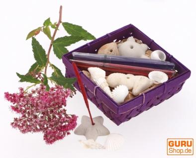 Räucher Geschenkset mit Räucherstäbchenhaltern - Lavendel Amber