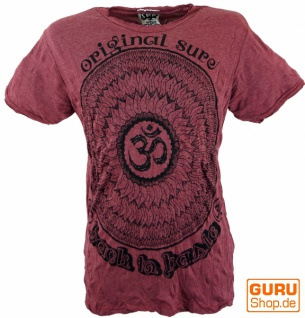 Sure T-Shirt Mandala OM - bordeaux