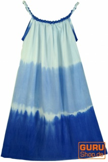 Batik Kinderkleid, Sommerkleid, Trägerkleid, Strandkleid, Mädchenkleid - blau