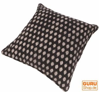 Kissenbezug Blockdruck, Kissenhülle mit Blumendruck, Dekokissen Bezug mit traditionellem Design 50*50 cm - Muster 5 - Vorschau 2