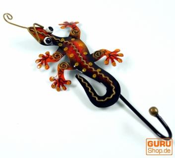 Kleiner Garderobenhaken, Metall Kleiderhaken - Gecko orange
