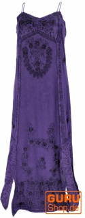 Besticktes Boho Sommerkleid, indisches Hippie Kleid - violett/Design 21
