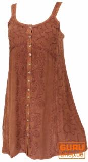 Besticktes indisches Kleid, Boho Minikleid - braun/Design 23