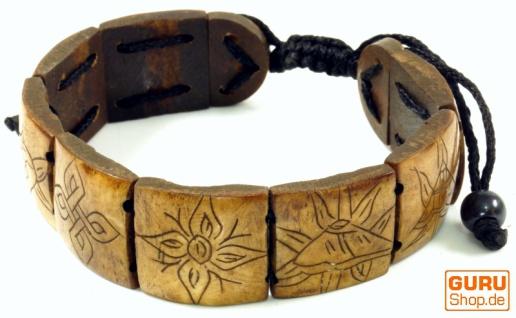 Buddhistisches Armband Ashtamangala - braun Modell 3