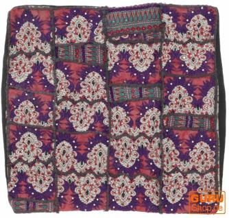 Patchwork Kissenhülle, Dekokissen Bezug aus Rajasthan, Einzelstück - Muster 63