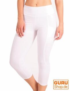 Leggings aus Bio-Baumwolle / Chapati Design - white