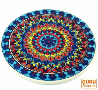 Orientalischer Keramikuntersetzer, runder Untersetzer mit Mandala Motiv - Muster 9