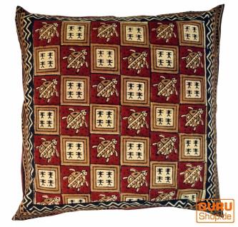 XL Kissenbezug Blockdruck, Kissenhülle Ethno, Dekokissen Bezug mit traditionellem Design - Muster 14