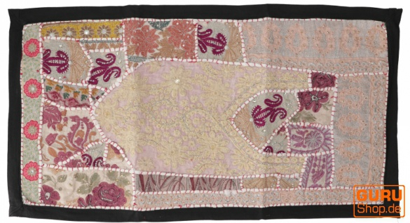 Indischer Wandteppich Patchwork Wandbehang, Tischläufer, Einzelstück 85*45 cm - Muster 9