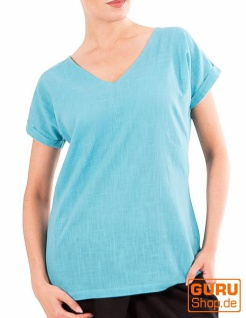 T-Shirt aus Bio-Baumwolle / Chapati Design - aqua