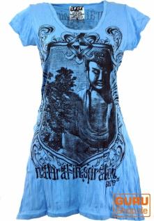 Sure Long Shirt, Minikleid Bodhi Baum Buddha - hellblau