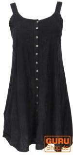 Besticktes indisches Kleid, Boho Minikleid - schwarz/Design 23