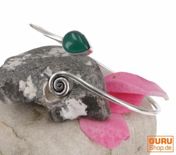 Silberne Armspange, Spange Messing - alcedon