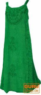 Besticktes indisches Sommerkleid Boho chic - grün