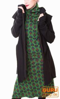 Pullover aus Bio-Baumwolle / Chapati Design - green lotus