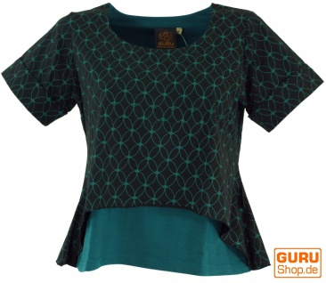 "Yoga-T-Shirt, Yoga Lagen-Shirt "" Blume des Lebens"" - schwarz"