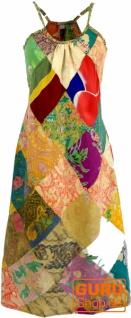 Patchwork Kleid, Hippie Kleid, Sommerkleid, Midikleid - grün/bunt 2