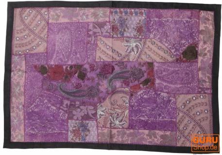 Indischer Wandteppich Patchwork Wandbehang, Einzelstück 90*65 cm - Muster 18