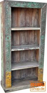 Aufwendig verziertes Bücherregal im Vintage Look - Modell 25