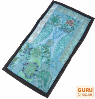 Indischer Wandteppich Patchwork Wandbehang, Tischläufer, Einzelstück 80*45 cm - Muster 21