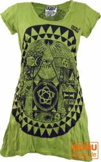 Sure Long Shirt, Minikleid Mandala - lemon