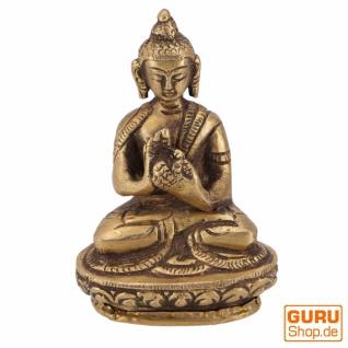 Buddha Statue aus Messing Dharmachakra Muda 8 cm - Modell 1