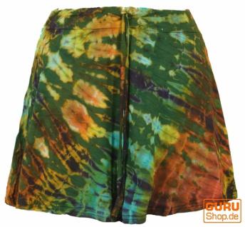 Batik Hippie Minirock, Boho Sommerrock - olive