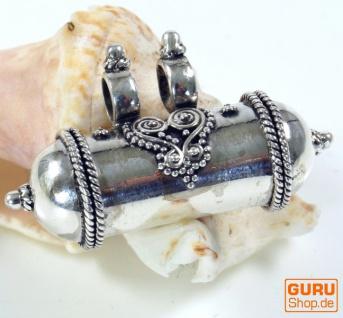 Indischer Silberanhänger kleine Kapsel