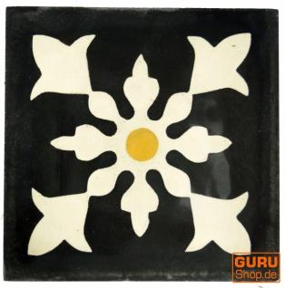 Zementfliesen Set, Ornament aus 4 Fliesen, antrazit - Design 2 - Vorschau 2