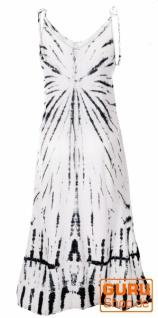 Boho Batikkleid, Strandkleid, Sommerkleid in Übergröße - weiß - Vorschau 3